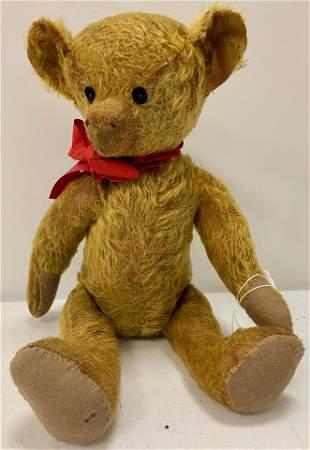 Early Mohair Teddy Bear w/straw filling