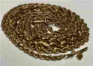 Jewelry: Three Gold necklaces