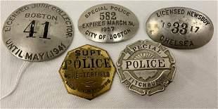 Five Breast Badges