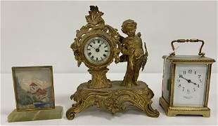 Brass Carriage Clock & Novelty Clock