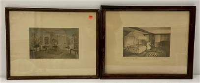 Two Framed Wallace Nutting Interior Prints