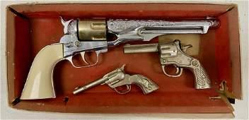 3 Toy Guns, 2 Marked Hubley