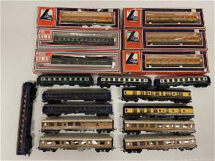 17 Lima Passenger Cars, some in boxes