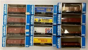 13 Marklin HO Cars, in boxes