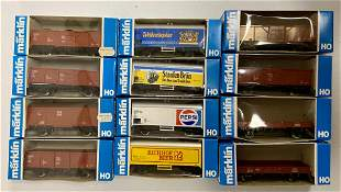 13 Marklin HO Cars, in boxes