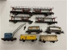 9 Marklin HO Cars