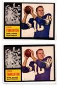 2 1962 Topps Football cards, # 90 Frank Tarkenton