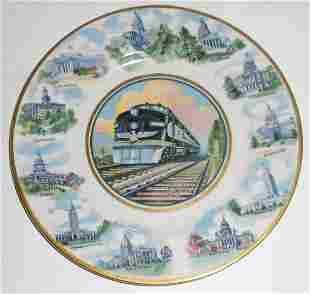 "MoPac ""State Flowers"" China Service Plate"