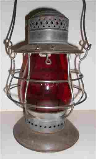 NYC Dietz #6 Lantern NYC&HRR Red Cast Globe