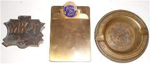 3 Brass Advertising Pieces: MKT, SLSW, Sou