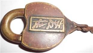Delaware & Hudson Cast Panel Brass Lock