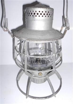 DL&W Railroad Dressel Lantern E/B DL&W RR Globe