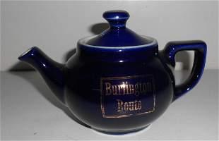 Burlington Route China Tea Pot - CB&Q