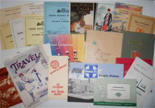 Assorted Travel & Employee Paper - some Western