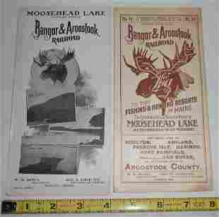 Bangor & Aroostook 1901 Timetable & Moosehead Lake