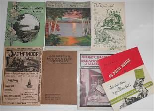 Mixed Travel Booklets: Rutland, NYC, Pullman etc.