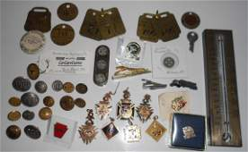 Railroad: Buttons, Fobs, Tags, Etc.