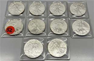 Silver American Eagle Dollars