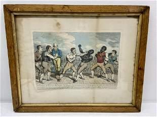 Tom Molineaux Vs Tom Cribb 1811 Boxing Print