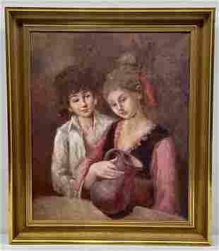 Sirio De Benedictus Signed Oil on Canvas, painting