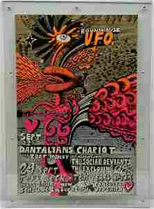 Original RARE Martin Sharp Roundhouse UFO 1967 Poster