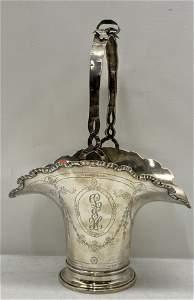 Sterling Silver Handled Basket
