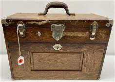 Oak Machinist chest