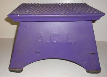"""ACL Morton Step Box 2"""" embossed letters"""
