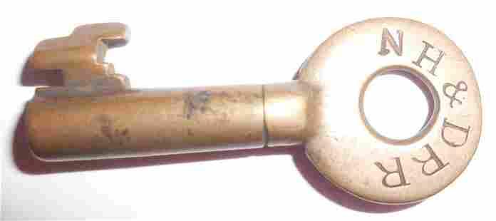 New Haven & Derby Railroad Switch Key