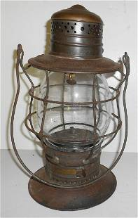 "B&M Railroad 6"" Brasstop Bellbottom Lantern"