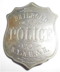 New Haven Railroad Police Badge