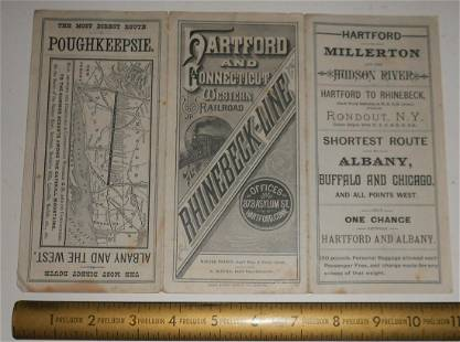 Hartford & Connecticut Western 1888 Timetable