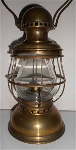 Brass Conductor Lantern - Post & Co. Threaded Top