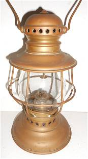 Brass Railroad Conductor Lantern Adams & Westlake