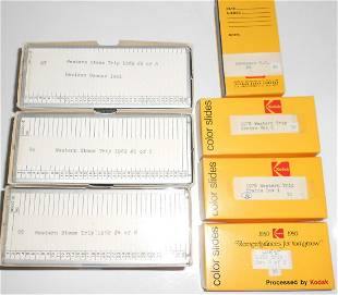 "7 boxes of ""36"" Color Slides: 1962 Western Trip"
