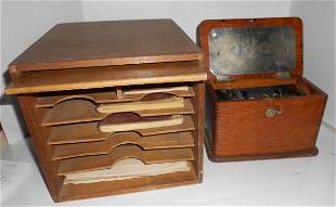 2 Wooden Rutland Railroad boxes with contents