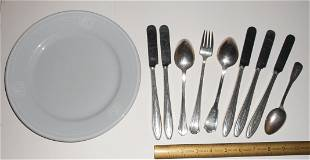 New Haven & NYC China & Silver Flatware