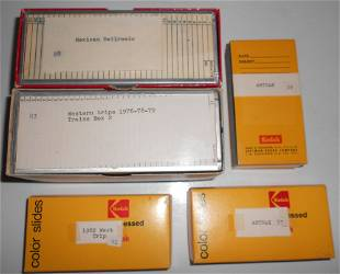 """5 boxes of """"36"""" Slides: Mexico, West, Amtrak"""