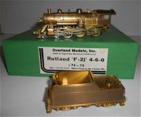 HO Brass Overland Rutland F-2j 4-6-0 omi-1436