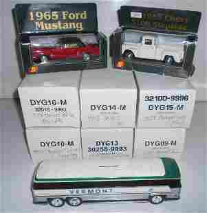 9 Vehicles, Matchbox, Superior + VT Bus Bank