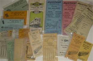 23 Milwaukee Electric Line Timetables