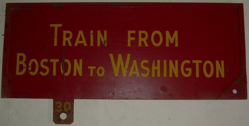 Pennsylvania RR Gate Sign Washington Boston