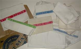 17 Pieces of Linen and Pullman Items