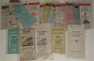 18 Cleveland Area Street Car Timetables