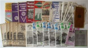 30 Assorted Timetables 1940s-1960s some WWII