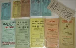 11 Utah Electric Line Timetables