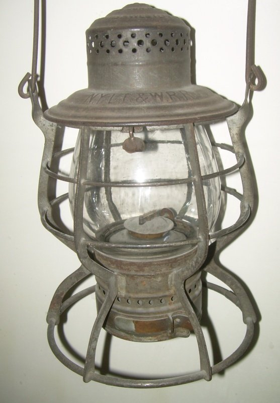 New York Lake Erie & Western A&W Lantern