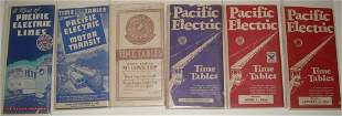 6 Pacific Electric Timetables