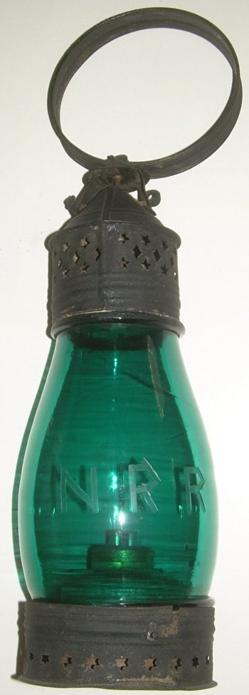 Northern Railroad Green Fixed Globe Lantern