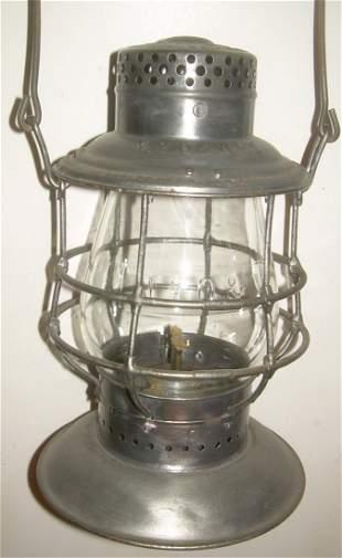 NYO&W RY Bellbottom Railroad Lantern CC Globe